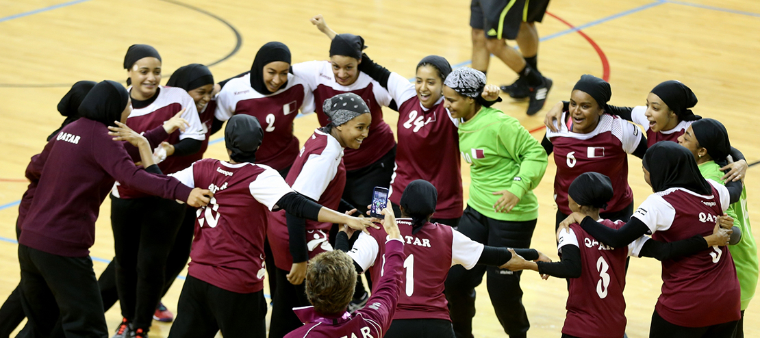 Team Qatar's Female Handball Team